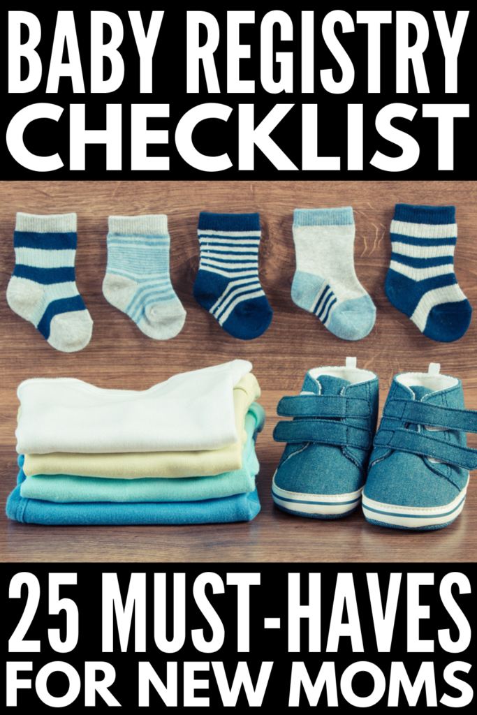25 Baby Registry Checklist Essentials | Whether you're pregnant with your first, second, or fifth baby this collection of minimalist must haves is for you! Check lists for new moms can be overwhelming, and this post breaks it down to the minimum – a simple list of the essential items you'll need when baby arrives. We've done all the research for you, with links to the best brands and products on Amazon so you can create your baby registry from the comfort of home! #babyregistry #babyessentials