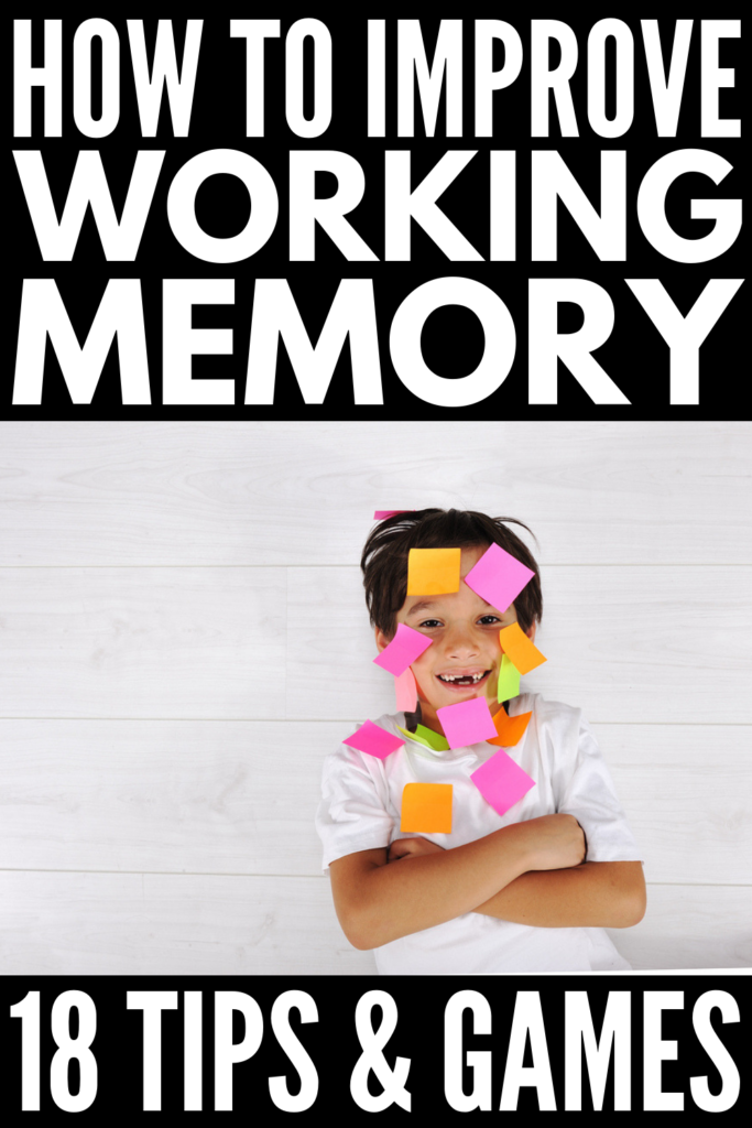 11 Working Memory Games for Kids | Looking for inexpensive (and free!) working memory activities for children with developmental delays like ADHD, executive functioning disorder, and autism, as well as students with learning disabilities like ADHD? With 7 strategies and 11 activities designed to develop a child's memory, planning, and organization skills, this collection of fun ideas will help make learning fun at home and in the classroom! #workingmemory #workingmemorygames #specialeducation
