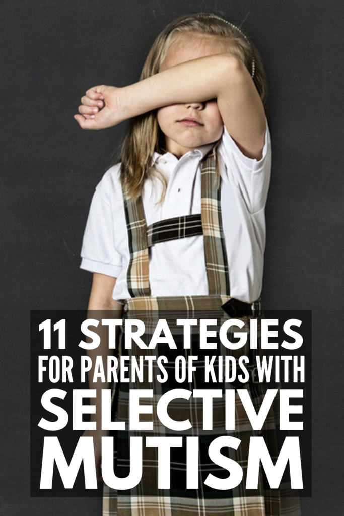 How to Help a Child with Selective Mutism | If you're looking for ideas to help a child with selective mutism outside of therapy, this collection of tips is perfect for parents and teachers alike. What is selective mutism? We're raising awareness of the disorder by sharing the signs, symptoms, and facts, as well as practical strategies to try at home and in the classroom to reduce anxiety and (hopefully) promote communication in children with SM. #selectivemutism #anxiety #mentalhealth