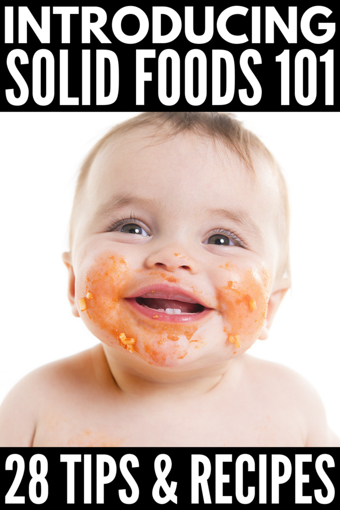18 Finger Food Ideas for Baby | Introducing solids to baby can be both exciting and stressful. If you want to signs of readiness, how and when to introduce solids (is it 4 months or 6 months?!), if baby led weaning is for you, which foods to avoid, the best beginner finger foods to prevent food allergies, and yummy finger food recipes the whole family can enjoy, this post has it, all including other tips and ideas to help you get started! #introducingsolids #babyledweaning