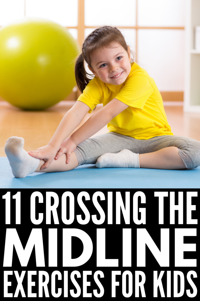 11 Crossing the Midline Activities for Kids | Perfect for toddlers, for kids in preschool, and for older children who struggle with handwriting, reading, and other fine and gross motor skills, these crossing the midline exercises can be used by teachers in the classroom, in Occupational Therapy, and even at home. These ideas are designed to make learning fun, and feel more like play than practice! #crossingthemidline #OTactivities