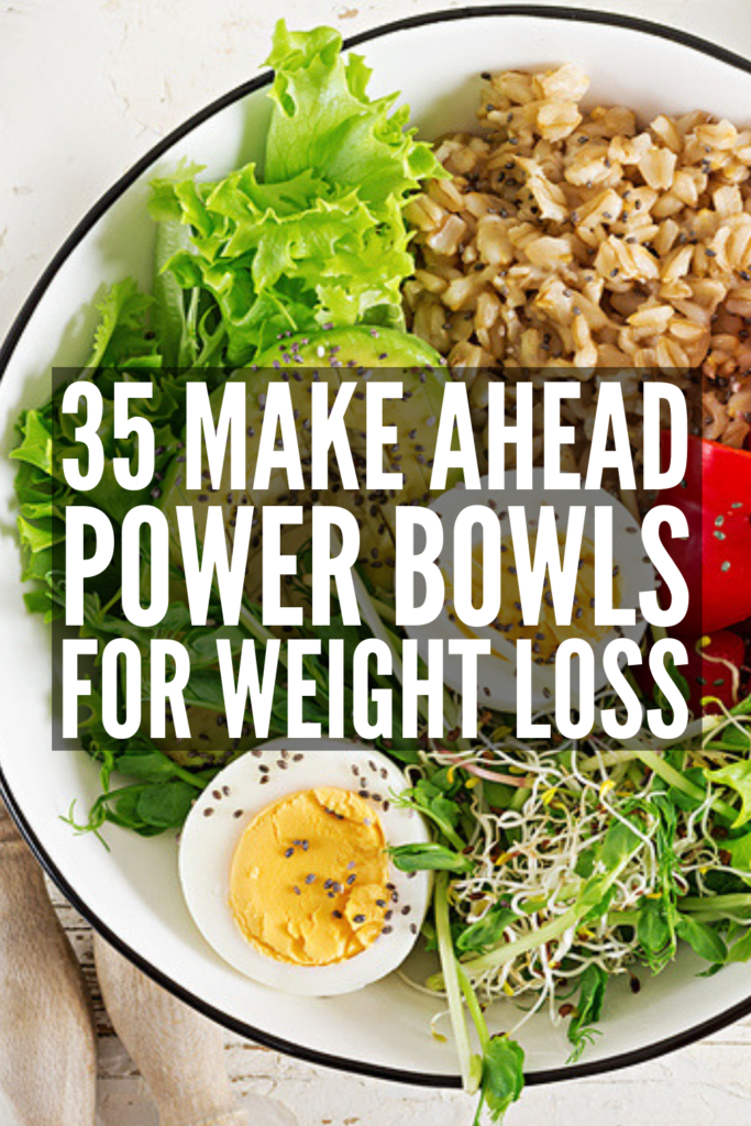 35 Healthy Power Bowl Recipes | Clean eating has never been easier than with this collection of super easy and delicious power bowl recipes! From quinoa, rice, and oatmeal, to chicken and beef, to protein rich plant-based vegan options, power bowls aren't just for breakfast – they make great lunches and dinners, too! And with 4 simple meal prep tips, we'll teach you how plan your meals a week at a time. #powerbowls #powerbowlrecipes