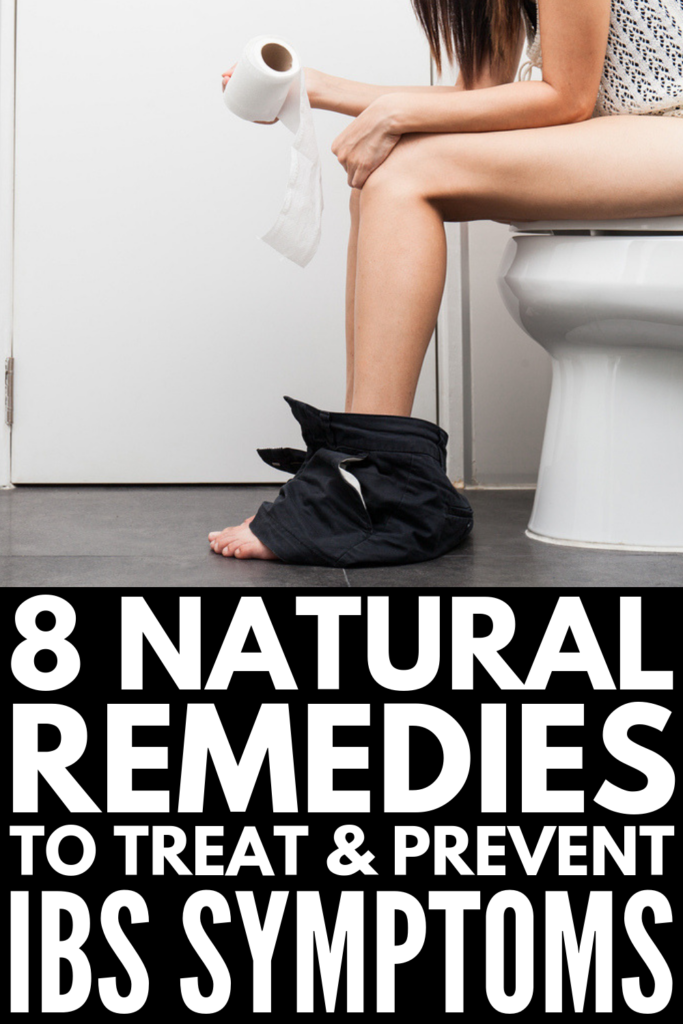 8 Natural Irritable Bowel Syndrome Remedies | Do you suffer from abdominal bloating, pain, cramping, diarrhea and/or constipation due to IBS and want natural relief? This post has all the facts - the signs, symptoms, and causes plus 8 natural treatment options. We focus on diet – what food to eat, triggers to avoid, recipe books – along with natural cures like essential oils, probiotics, herbal teas, and managing stress. #irritablebowelsyndrome #IBS #IBSremedies #IBSrelief #naturalremedies
