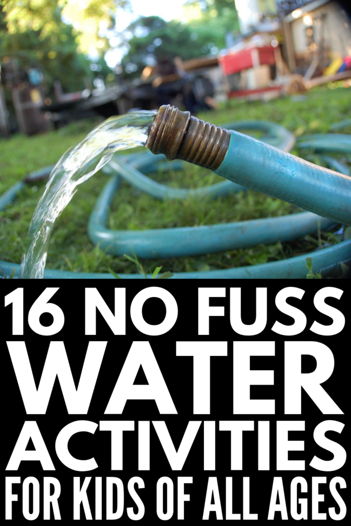 16 Summer Water Activities for Kids | If you're looking for fun and creative ways to keep your kids cool and entertained outside this summer, these ideas are for you! From a DIY sprinkler and pool noodle waterfall, to outdoor games like water balloon pinatas and fill the bucket, these summer activities will be turning backyards into awesome summer retreats for kids everywhere on hot summer days! #wateractivities #summeractivities #outdooractivities #summerfun