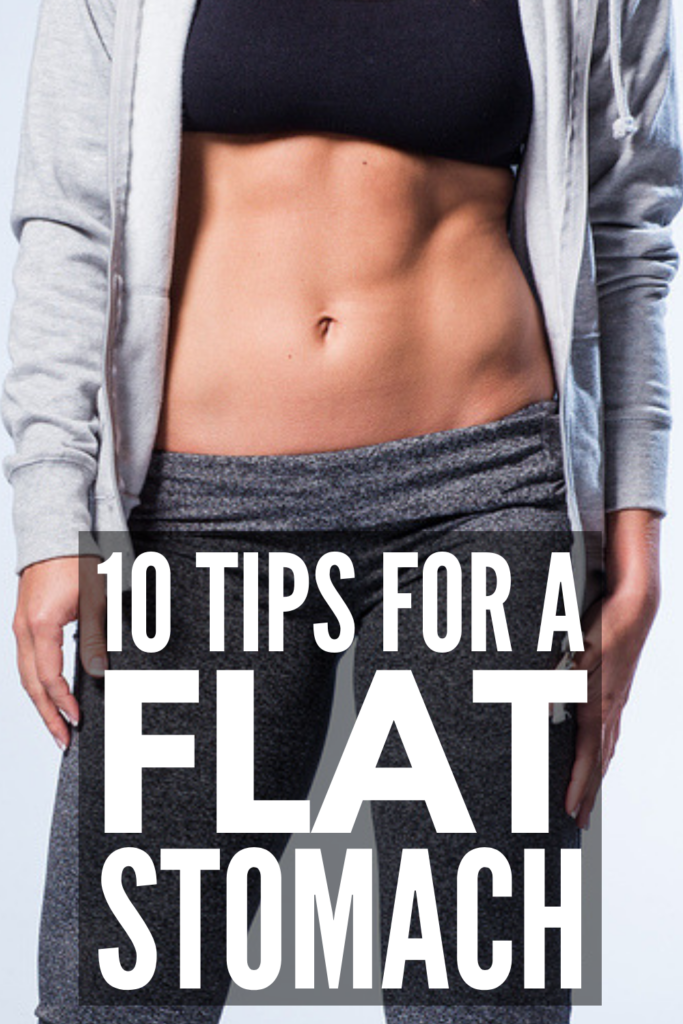 How to Get a Flat Stomach Fast | Tightening and toning your abs isn't as hard as it sounds, and if you commit, you can expect to see results in a week! Also? Spending hours at the gym isn't necessary. You can get a flat stomach without working out! If you want to lose belly fat and get a flatter stomach, we're sharing 10 easy tips and exercises you can do at home for results that last. Click to find out what food you should be eating and more! #flatstomach #flatbelly #losebellyfat
