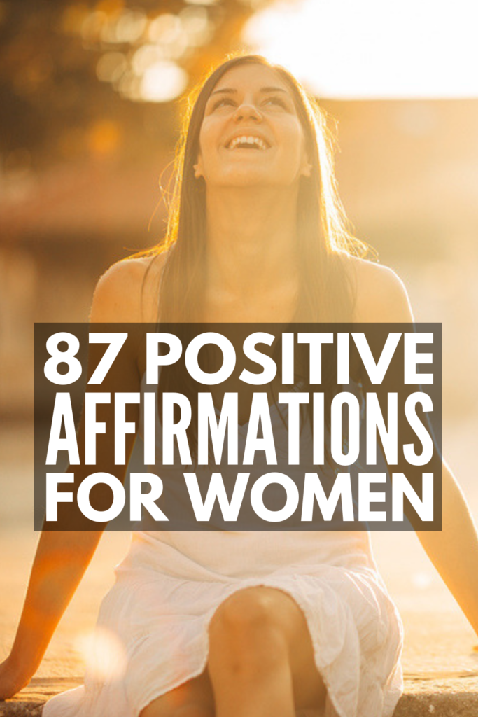 87 Positive Affirmations for Women | From boosting your self-esteem and happiness, to improving your motivation and relationships, to helping mothers see their strength and the importance in everything they do, these inspirational affirmations and mantras are both beautiful and effective. Repeat these to yourself daily with meaning and intention and practice an attitude of gratitude to help change your perspective! #positiveaffirmations #positiveaffirmationsforwomen #affirmationsformoms