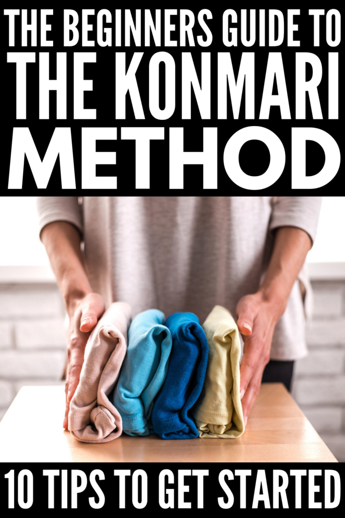 The KonMari Method for Beginners   Decluttering, purging, folding, and organizing, oh my! If you've ever seen Marie Kondo inspired before and after photos, and home organization is a goal you've set for yourself, this post is a great place to start! We're sharing tips to help breakdown the KonMari method into manageable steps, as well as common mistakes to avoid while you try to declutter your closet, books, paperwork, kids stuff, kithchen, etc.! #konmari #konmarimethod #mariekondo