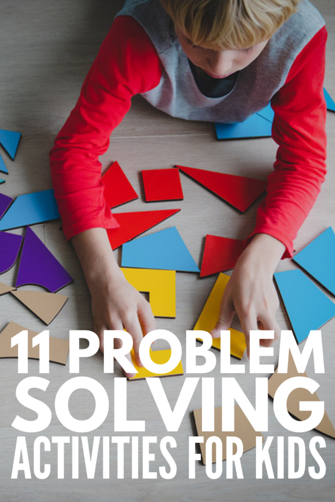 11 Problem Solving Activities for Kids | If you want to help build your child's social, critical thinking, conflict resolution, and anger management skills, these fun and effective ideas are for you! We've included worksheets, team building activities, task cards, and other creative challenges for small groups that can be used at home with parents or as a team in the classroom. #problemsolvingactivities #conflictresolution #selfregulation