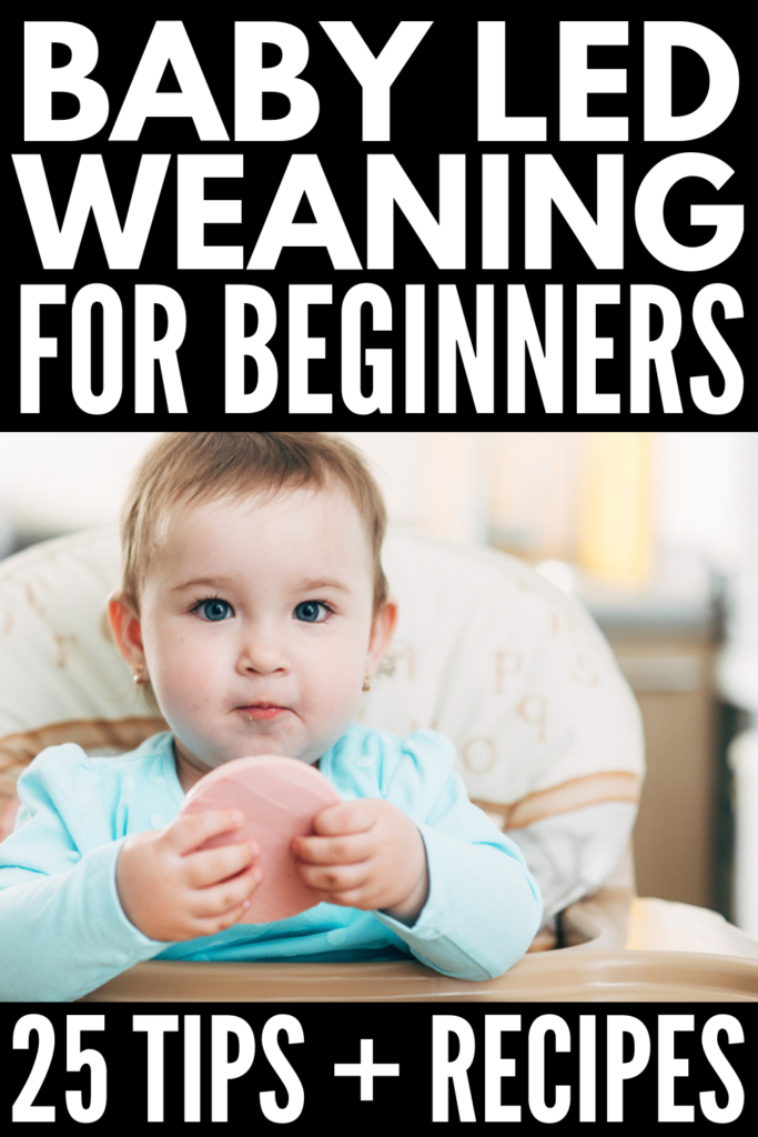 Baby Led Weaning for Beginners | Starting baby with his or her first foods at 6 months can be scary, especially if your babe has no teeth! It used to be that starter foods consisted only of purees - baby oatmeal and mashed banana and sweet potato – but many moms are opting to go straight to table foods. If you want to know how to get started with BLW, as well as the best beginner foods and recipes to start with, we're sharing 25 tips and ideas to inspire you! #babyledweaning #BLW #starterfoods