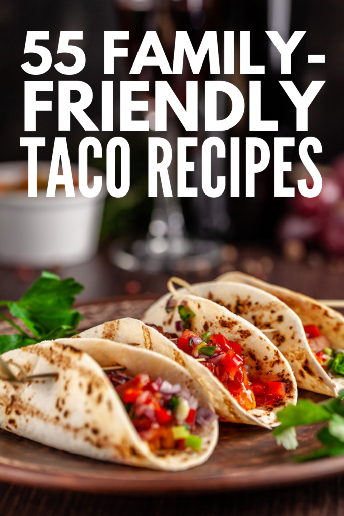 55 Family-Friendly Taco Tuesday Recipes | If you're looking for healthy taco recipes your kids will enjoy as much as you, this collection of easy ideas will inspire you! Whether you prefer ground beef, steak, chicken, turkey, fish, shrimp, or vegetarian options with beans, these ideas will take your weeknight meals to the next level. With low carb keto options and simple slow cooker recipes, there's a Taco Tuesday recipe here for everyone! #tacotuesday #tacotuesdayrecipes #tacorecipes