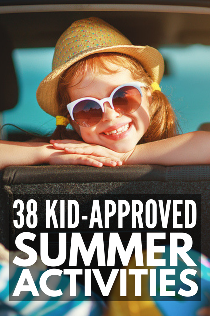 38 Summer Activities for Kids | Looking for ideas to keep your kids busy at home this summer that are fun and educational? Whether you have toddlers, kids in preschool or kindergarten, or older kids, there are tons of things to do that are inexpensive and easy to setup. Check out our favorite indoor and outdoor summer activities, as well as summer group games for kids and summer science experiments designed for the mad scientists in your life! #summeractivities #summercrafts #summergames