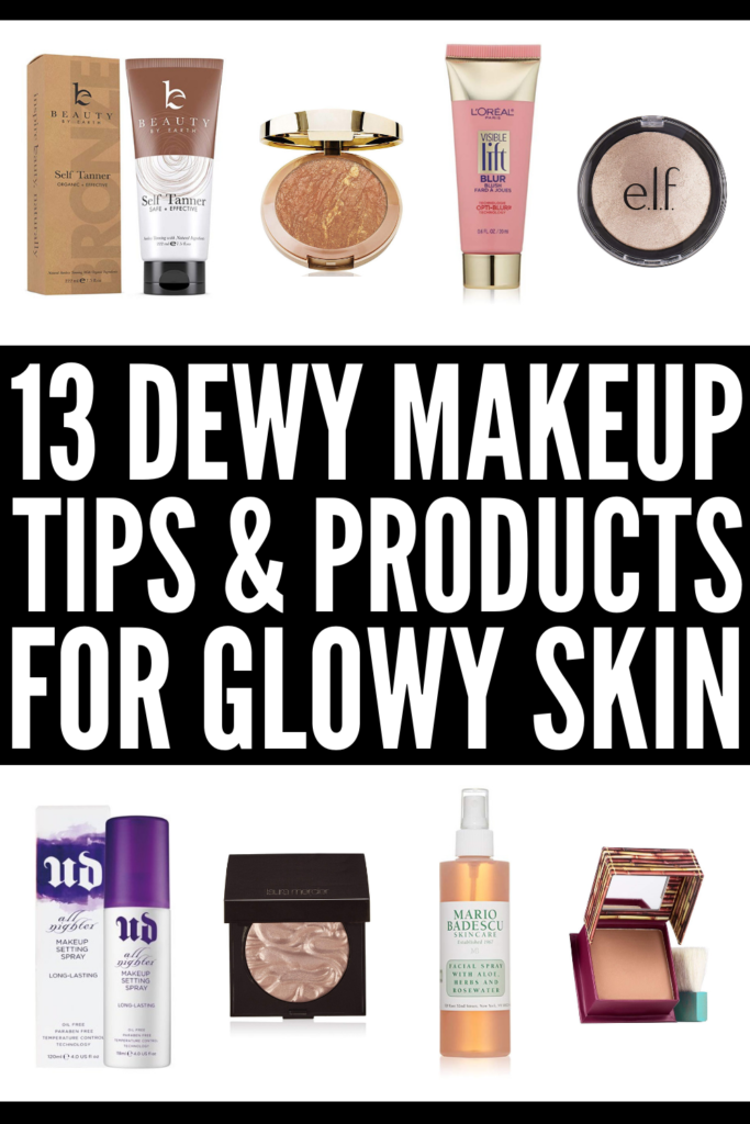 13 Makeup Tips to Teach You How to Get Dewy Skin | If you want to know how to get dewy skin naturally, or you're looking for ways to fake dewy skin with makeup, this post has it all! From our favorite beauty tips and products, to 3 step-by-step sun-kissed makeup tutorials, we're sharing 13 beauty hacks to teach you how to get fresh, glowy skin year-round – not just during the summer months! #dewyskin #skincare #beautytips #glowyskin
