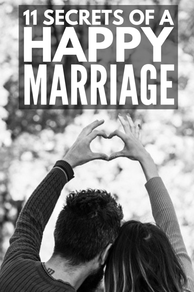 11 Secrets of a Happy Marriage | If you want to know how to have a happy marriage, we're sharing our best tips to teach you what sets happily married couples apart from the rest. Whether you're celebrating your first anniversary or your 50th, the keys to a happy marriage are the same. Perfect for newlyweds, tired parents, and empty nesters, we hope these ideas give you the inspiration to keep the magic alive in your marriage today – and every day! #marriage #newlywed #kids #parenting