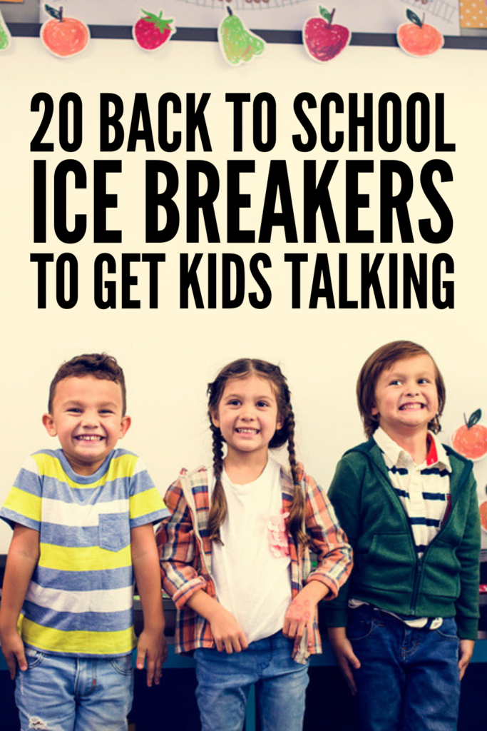 20 First Day of School Icebreakers for Kids | Attention teachers! If you're looking for fun and engaging 'getting to know you' team building activities to help your students transition back to school, these ideas will not disappoint! Perfect for kids in kindergarten, elementary school, and middle school, we've included ideas for small groups and activities that can be enjoyed with the entire classroom. #icebreakers #backtoschool #backtoschoolactivities
