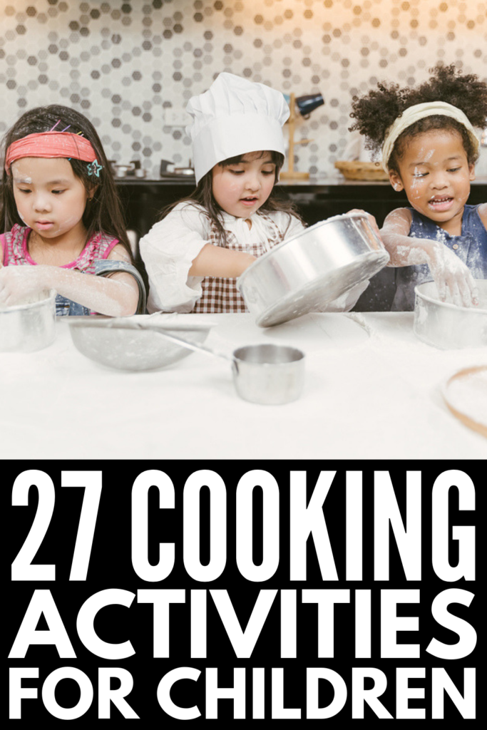 27 Cooking Activities for Kids   Looking for easy and healthy recipes for kids you can incorporate into your classroom lesson plans? These fun ideas will inspire you! From taste tests and edible science experiments, to no bake recipes, to simple and creative ideas that have an education component, these recipes kids can make will teach important kitchen tips and life skills, and hopefully turn picky eaters into aspiring chefs! #cookingactivities #cookingintheclassroom #recipeskidscanmake