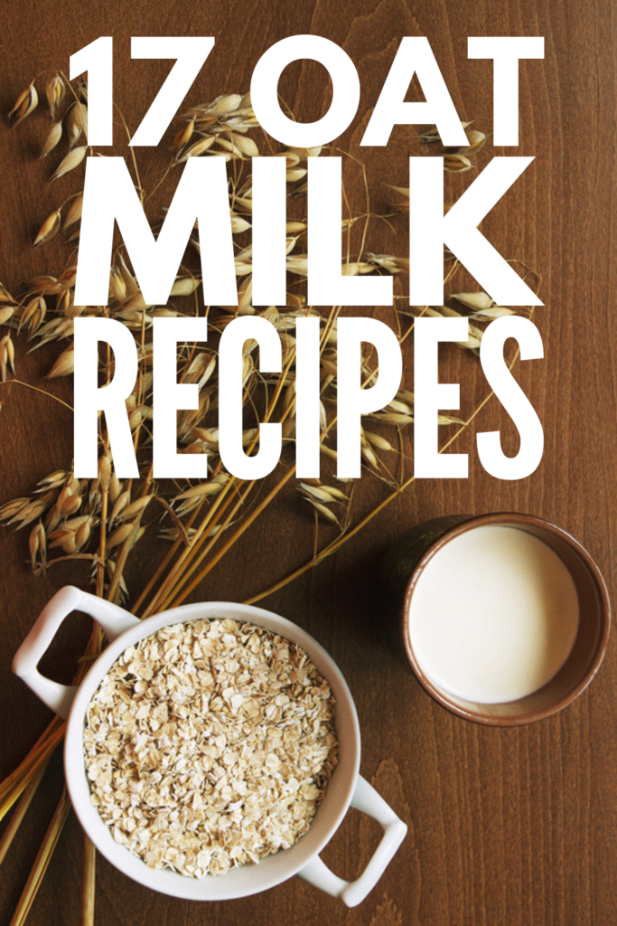 17 Oat Milk Recipes | Your mornings are about to get tastier with these easy and healthy homemade oat milk recipes! We're sharing a step by step guide to make oat milk using water and steel cut oats plus the best recipes for coffee, creamy chocolate oat milk, smoothies, and desserts! Cooking with oat milk is surprisingly easy, and if you're looking for healthy breakfasts, you'll love the peanut butter banana oat milk smoothie! #oatmilk #oatmilkrecipes #howtomakeoatmilk #homemadeoatmilk