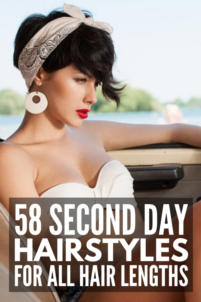 58 Headband Hairstyles for All Hair Lengths | Looking for second day hairstyles for short, medium length, or for long hair? Whether you have straight, wavy, curly, thin, or thick hair, there are so many easy looks you can create to dress up any outfit. We're excited to share our favorite step-by-step hair tutorials! Whether you need something conservative for work, prefer a boho chic look, or like sporty and retro 'dos, there's a style here for you! #headbandhairstyles #seconddayhair