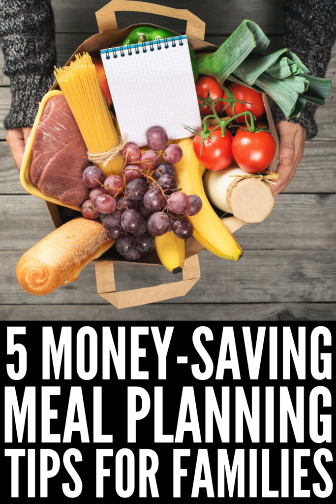 Family Meal Planning on a Budget | Whether you're looking for ideas to help you create a healthy weekly menu even the picky eaters in your life will enjoy, want to know how to create and stick to your grocery lists so you aren't throwing away unused produce each week, or need kid-friendly recipes you can throw in the crockpot on busy weeknights, we're sharing 5 simple meal planning tips to help you stick to your clean eating goals while still saving money! #mealplanning #familymealplanning #howtomealplan