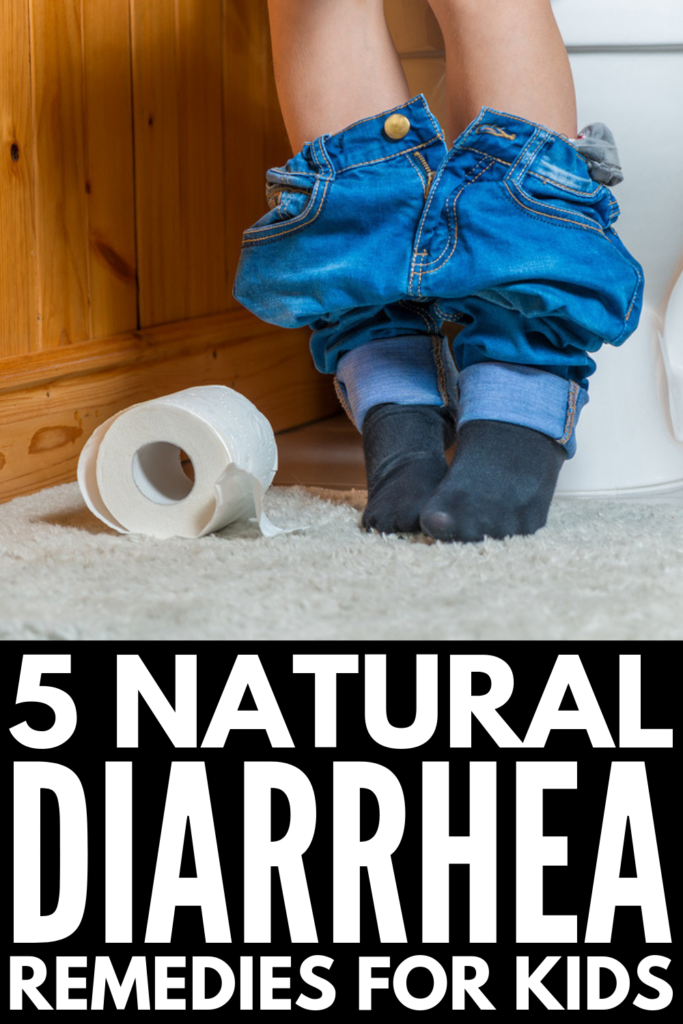 5 Natural Diarrhea Remedies for Kids | Whether it's a stomach flu, food poisoning, or a virus, diarrhea in children (especially babies and toddlers) is not fun. Knowing the causes of diarrhea can help, and having tips and natural remedies up your sleeve to relieve discomfort is always a good idea! From essential oils, to ginger, to eating the right foods (aka the BRAT diet), these tips and natural treatments will help keep your child comfortable at home! #diarrhea #kidshealth #stomachflu