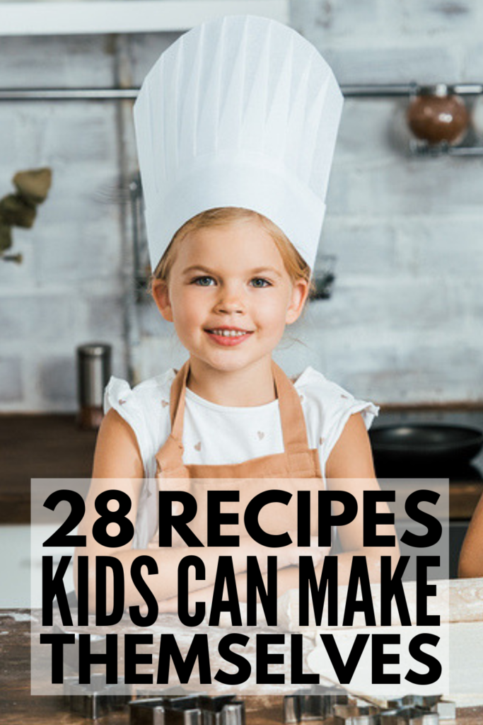 28 Meals Kids Can Make By Themselves | If you're looking for easy, healthy, and fun recipes kids can make for breakfast, school lunches, and/or for dinner, look no further! Mornings and evenings just got a whole lot easier with this collection of tips for getting kids excited about cooking and simple recipes the whole family will enjoy. While these may not be low carb (LOL), who can pass up a pot of mac and cheese made by your own child?! #mealskidscanmake #cookingwithkids #kidsrecipes