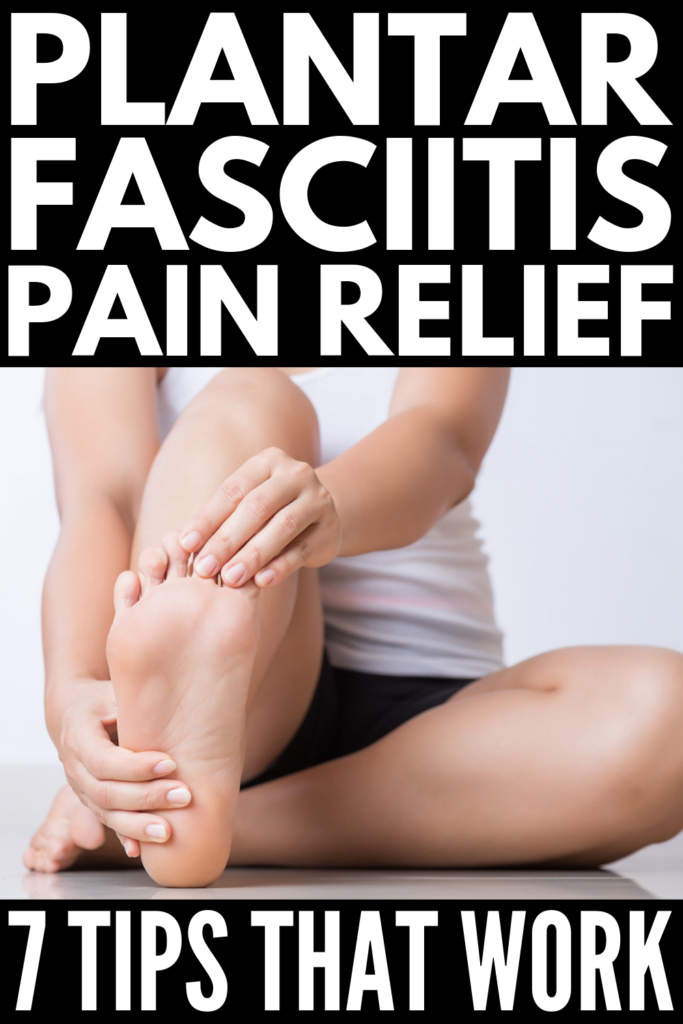 Plantar Fasciitis Relief | Looking for home remedies and exercises to relieve plantar fasciitis pain? We're sharing the best products, essential oils, and shoes for those with heel and foot pain, the best exercises and stretches to prevent foot and heel pain, and tips to tape and wrap your foot for instant relief. Whether you injured yourself running or your pain stems from flat feet, high arches, or being overweight, rest assured relief is on the way! #plantarfasciitis #plantarfasciitisrelief