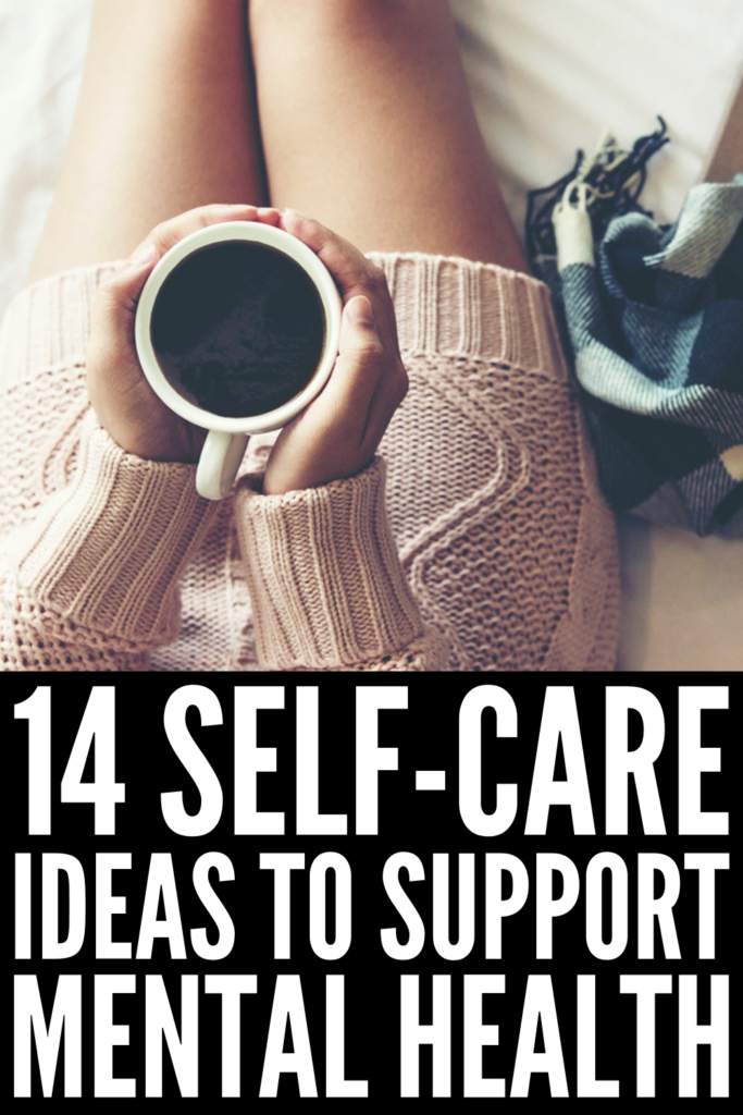14 Self-Care Ideas for Mental Health | Whether you suffer from stress, anxiety, depression, or a combination of the 3, you're probably looking for coping skills and tips to help you feel better and balance your physical, emotional, and spiritual well-being. While there is no 'recovery kit' per se for mental health challenges, these self-care activities are key to a happy life! #selfcareactivities #mentalhealthactivities #selfcareideas