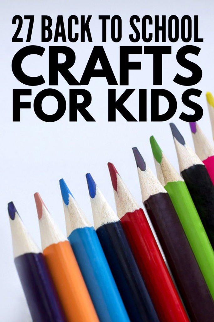 27 Back To School Crafts For Kids | Perfect for preschoolers who are starting school for the first time, for kindergarten aged kids who are transitioning to full-day school, and for kids in elementary school, this collection of easy back to school activities and DIY art projects is full of ideas for moms to make back to school fun! #backtoschoolcrafts #backtoschoolactivities