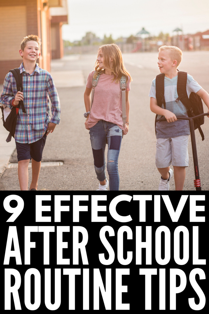 How to Create an After School Routine for Kids | Transitioning from summer vacation to back to school madness can cause meltdowns and power struggles for children and families. If you're looking for tips and ideas to keep your kids happy while also finding time for homework and extracurricular activities, these after school tips for parents are for you! #afterschoolroutine #backtoschool #schoolroutine