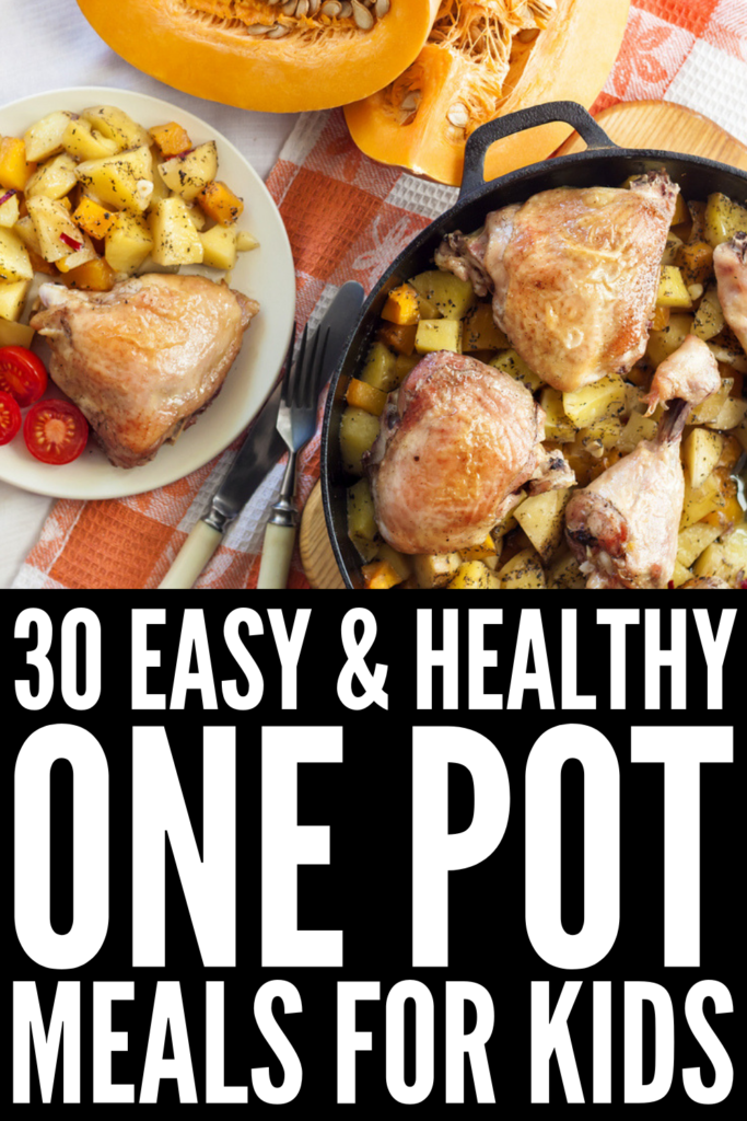 30 One Pot Meals for Kids | Busy weeknights call for easy dinners but finding simple and healthy dishes your kids will actually eat can be challenging. We've curated 30 days of ideas, including everything you can imagine – chicken and ground beef dishes, comfort foods like mac and cheese, spaghetti, and pizza, rice and pasta ideas, and more. Perfect for back to school, these ideas will help you get veggies into even the pickiest of eaters! #onepotmeals #onepotrecipes #backtoschool