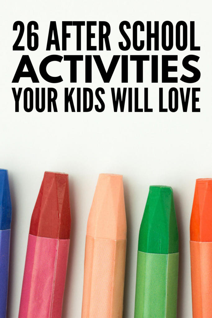 26 After School Activities for Kids | Perfect for kids in preschool, kindergarten, and elementary school, we're sharing 26 crafts, games, and activities boys and girls can enjoy at home (or at daycare) once they've bid adieu to their classroom for the afternoon. These ideas are simple, fun, easy to setup, and provide meaningful learning opportunities to boot! #afterschoolactivities #afterschoolcrafts