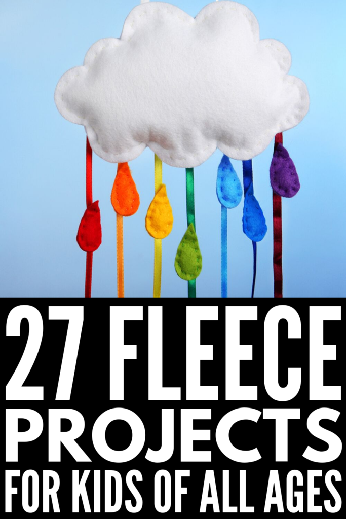 27 Fleece Projects for Kids Of All Ages | There are so many easy, no sew art projects you can make with your kids, and these fleece-inspired ideas are perfect for cold winter days. Whether you want to learn how to make hats, scarves, and backpacks with your little one, or want something a little more creative, like puppets, pillows, and rugs, these ideas make great gifts! #fleeceprojects #nosewfleece #nosewprojects