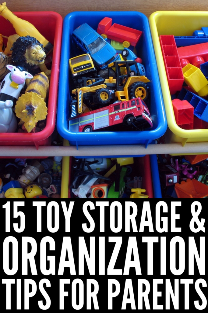 How to Organize Toys | Perfect for those who live in small spaces without dedicated playrooms, these DIY organization ideas will restore order in your basement, living room, bedroom, closet, and any other place in your home that has been taken over by plastic monstrosities. From Ikea hacks, to LEGO organization ideas, to easy storage for stuffed animals, to an adorable homemade trunk for dress-up clothes, you'll wish you knew these toy organization ideas sooner! #organizetoys #toyorganization