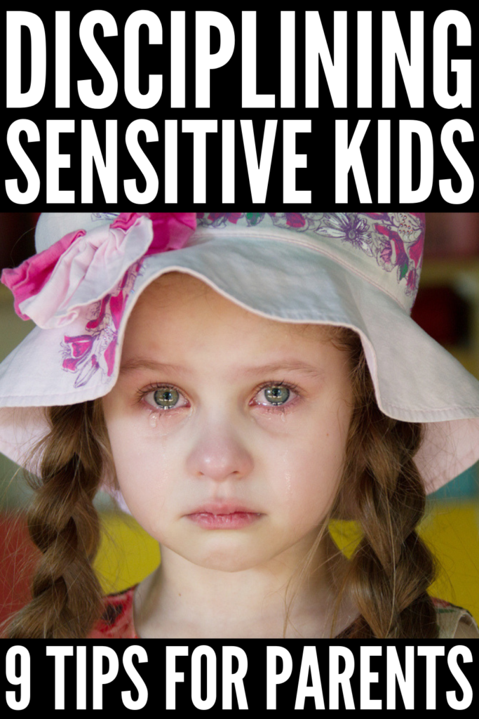 How to Discipline a Sensitive Child | Parenting a highly sensitive child can be challenging as you need to be much more deliberate with your words and actions - it can be a learning curve for parents! If you are the mom (or dad) of a sensitive kid, these gentle discipline tips and ideas will help you support your child while still enforcing appropriate behavior and teaching self-control, respect, and obedience. #sensitivechild #highlysensitivechild #positiveparenting #positivediscipline