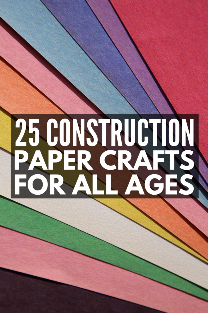25 Construction Paper Crafts for Kids | If you're looking for easy art projects for toddlers, kids in preschool and kindergarten, and elementary aged children, these kids activities develop fine motor skills, hand eye coordination, scissor skills, and more. With fall, winter, spring, and summer crafts, as well as holiday inspiration for Halloween, Christmas, Valentine's Day, and Easter, there are tons of fun step by step DIY projects here for every age and stage! #constructionpapercrafts