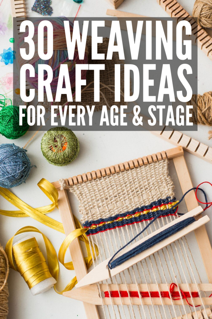 30 Simple Weaving Crafts for Kids | Teach your kids how to weave with materials you already have lying around the house, like paper, straws, yarn, cardboard, a bag, fabric, and popsicle sticks. With step by step tutorials, these ideas are perfect for beginners, and we've included ideas for kids in preschool, kindergarten, and elementary school. These make great DIY gifts kids can make, and double as fabulous fine motor and hand strengthening activities. #weavingcrafts #weavingcraftsforkids