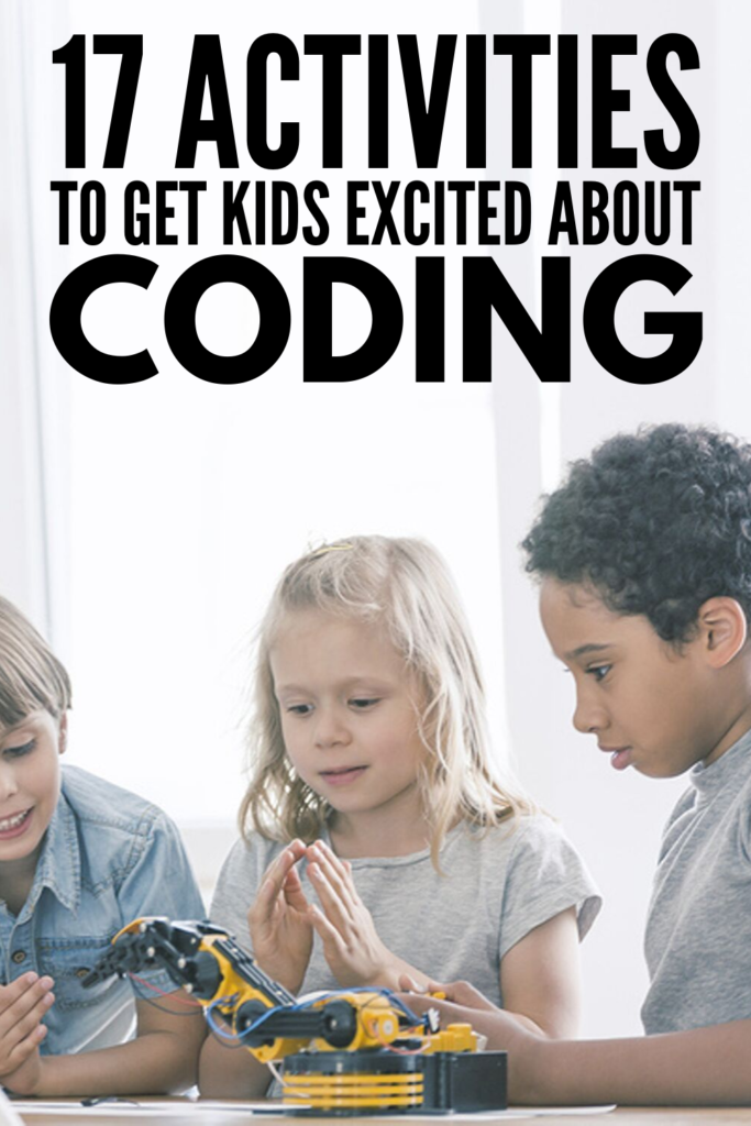17 Coding Activities for Kids | If you're looking for fun activities to help foster an interest in computer programming in your kids, we're sharing 17 ideas to inspire you. With tons of unplugged activities to choose from, these STEM inspired ideas can be used in the classroom and at home to teach kids how to write binary code, how to debug code, how to program a robot, how to make their own video games, and how to build their own website! #codingactivitiesforkids #codinggames #codingforkids