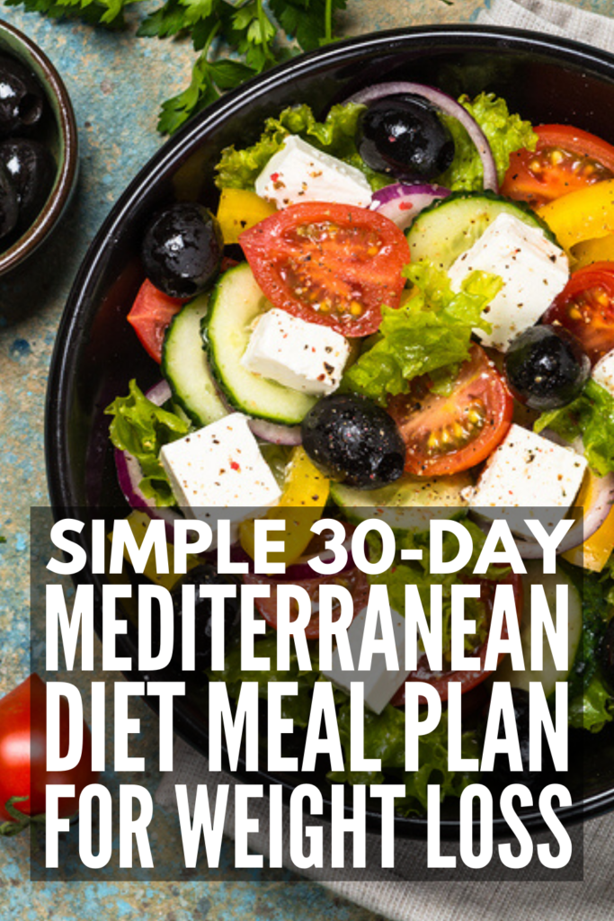30-Day Mediterranean Diet Meal Plan for Weight Loss | If you're trying to lose weight and keep it off, finding a clean eating plan you can stick to for life is the way to go. We've curated 120 mix and match Mediterranean Diet recipes with delicious and filling meals for breakfast, lunch, dinner, snacks, and desserts. Perfect for beginners, we've included vegetarian and gluten-free options, as well as easy time-saving crockpot recipes! #mediterranean #mediterraneandiet #mediterraneanrecipes