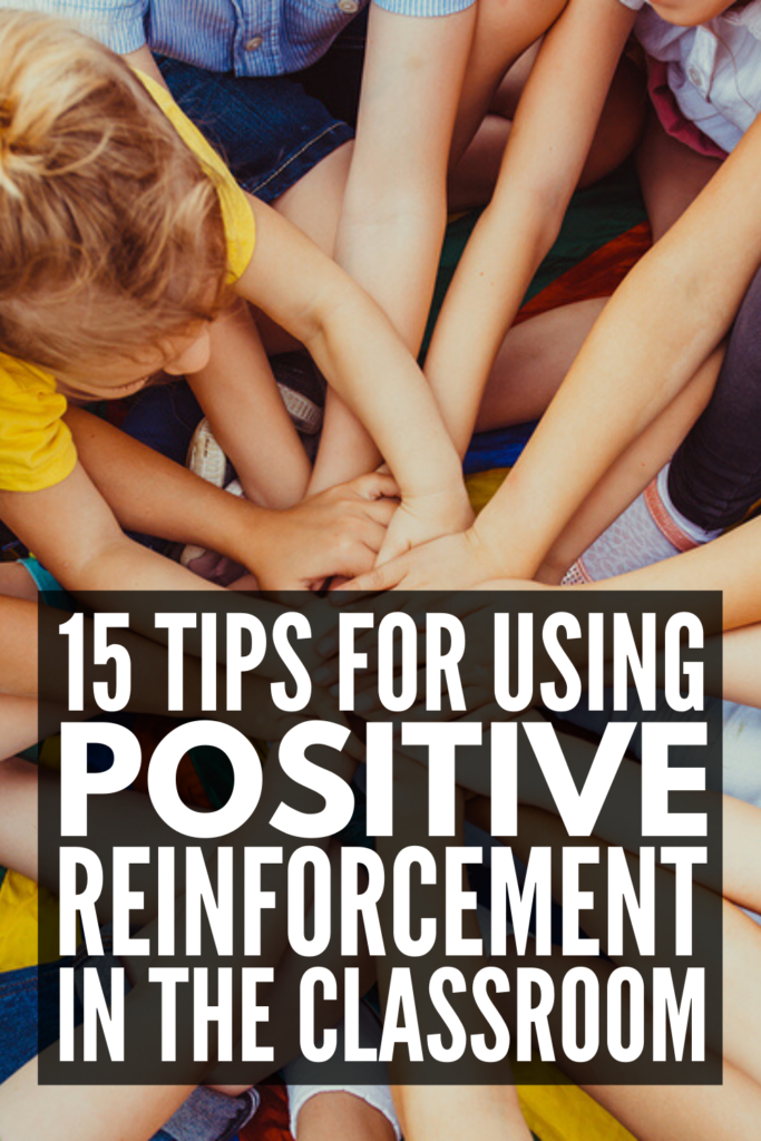 How to Use Positive Reinforcement in the Classroom   Whether your students are in preschool, kindergarten, upper elementary, or middle school, one thing is for certain: you need a classroom management system that works. We're sharing 6 positive reinforcement strategies for teachers, along with 9 classroom reward system ideas to inspire you! #positivereinforcement #classroomstrategies #classroommanagement