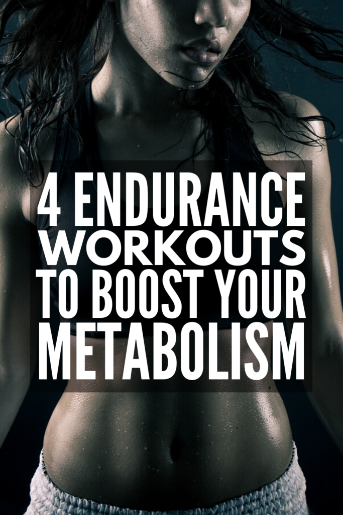 4 Endurance Workouts for Weight Loss   If you're looking for full body exercises for beginners you can do at home to help boost your metabolism for weight loss that lasts, endurance workouts are where it's at! Running, cycling, cardio, and HIIT workouts are all great ways to improve your stamina, but body weight and dumbbell exercises can also give your endurance a healthy boost. Check out our fave 4 strength training and endurance workouts! #enduranceworkouts #boostmetabolism #cardioworkouts