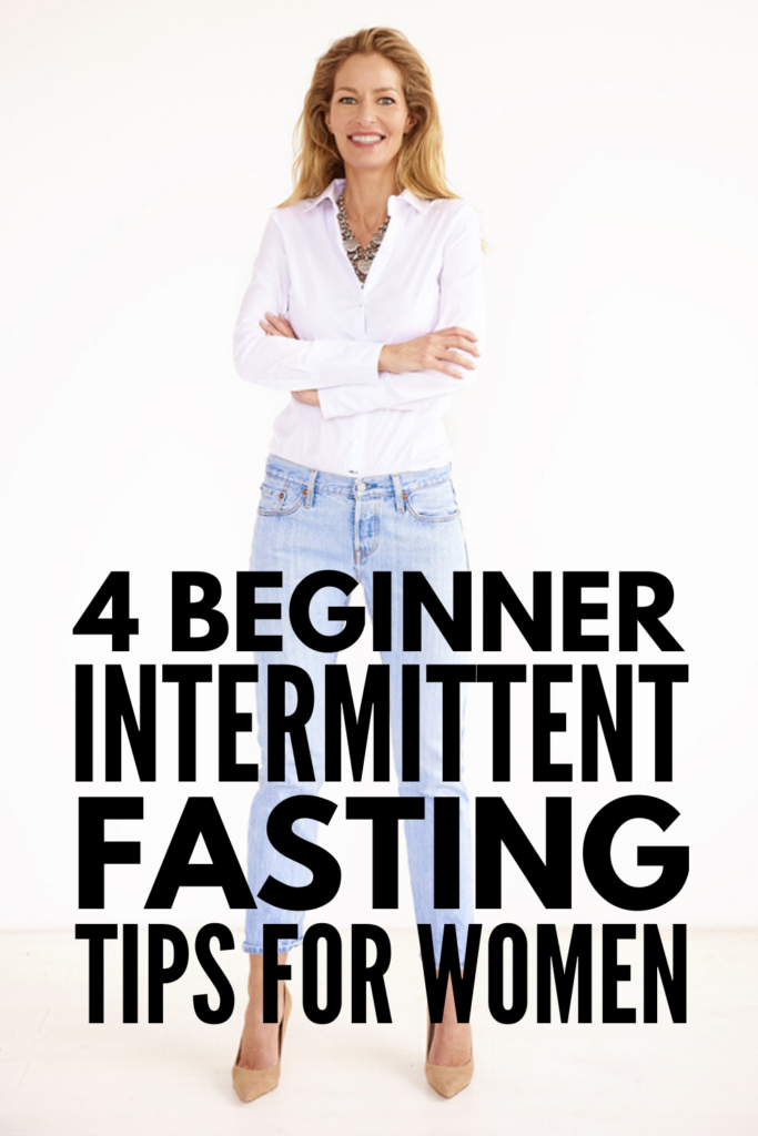 4 Intermittent Fasting Tips for Women | If losing weight feels more challenging now that you're over 40 (or over 50), intermittent fasting is a great option to consider. This is a great post for beginners as it explains the different plans (16/8, 5/2, Eat-Stop-Eat, The Warrior Diet, etc.) so you can figure out the best fat-burning plan for your schedule, along with helpful tips to get started and get the most out of your workout! #intermittentfasting #weightlossafter40 #loseweightfast