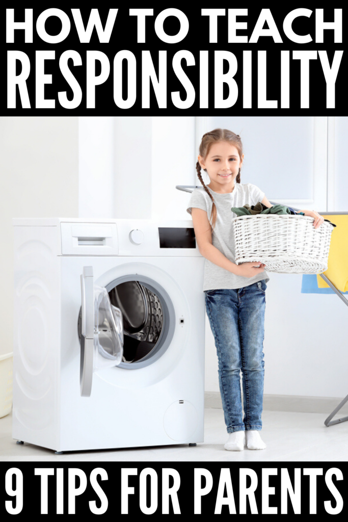 How to Teach Kids Responsibility | While teachers often do a great job of teaching responsibility to kids at school, parenting our own children never seems to be as simple. Am I right? If you're trying to teach important life skills to your kids, and need an easy daily system that works, we're sharing 9 ideas to help. From assigning chores by age, to developing a chore chart, to rewarding kids through praise and allowance, this post has great tips! #chorecharts #behaviorcharts #kidschores