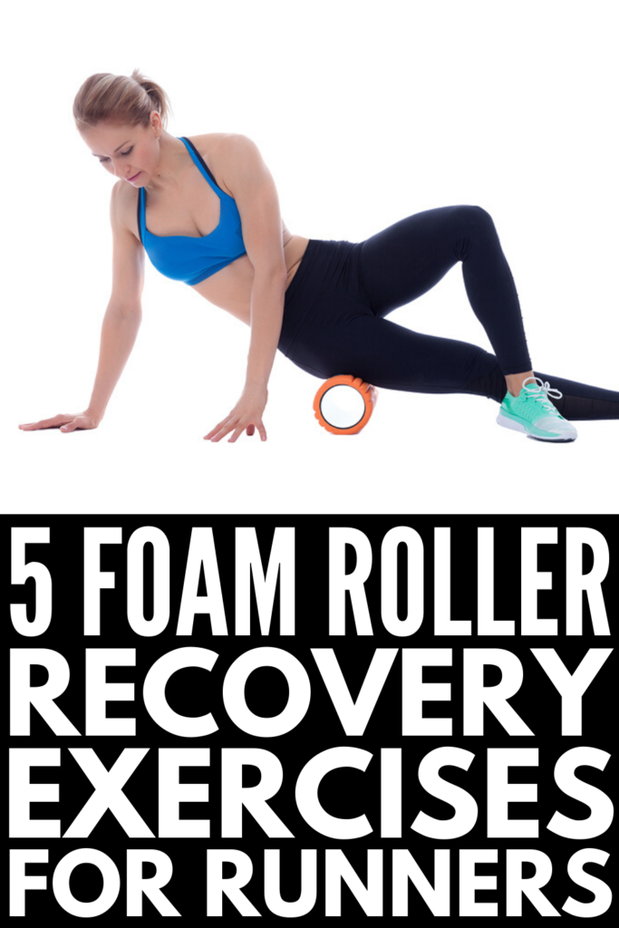 Foam Rolling for Runners | There are so many benefits of foam rolling. Whether you're looking for running stretches for beginners, or need a pre- and post- running recovery routine to help heal and prevent injuries, we're sharing 5 exercises to help you warm up and cool down, and that offer relief for sore muscles on rest days. Give those quads, calves, hamstrings, glutes, and hip flexors some TLC with our foam rolling routine for runners! #foamrolling #runningrecovery #runningstretches