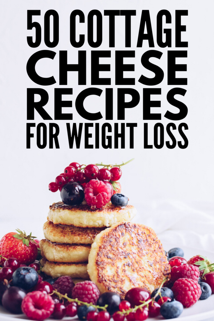 50 Filling Cottage Cheese Recipes for Weight Loss | High in protein with a low calorie and low carb count, cottage cheese is a healthy ingredient you can add to your breakfast, lunch, dinner, snack, and dessert recipes to help you feel full and lose weight! From smoothies, pancakes, and muffins, to dips, salads, sandwiches, pastas, and casseroles, to pudding, cakes, and cookies, there are tons of ways to eat cottage cheese, and we're sharing our favorites! #cottagecheese #cottagecheeserecipes
