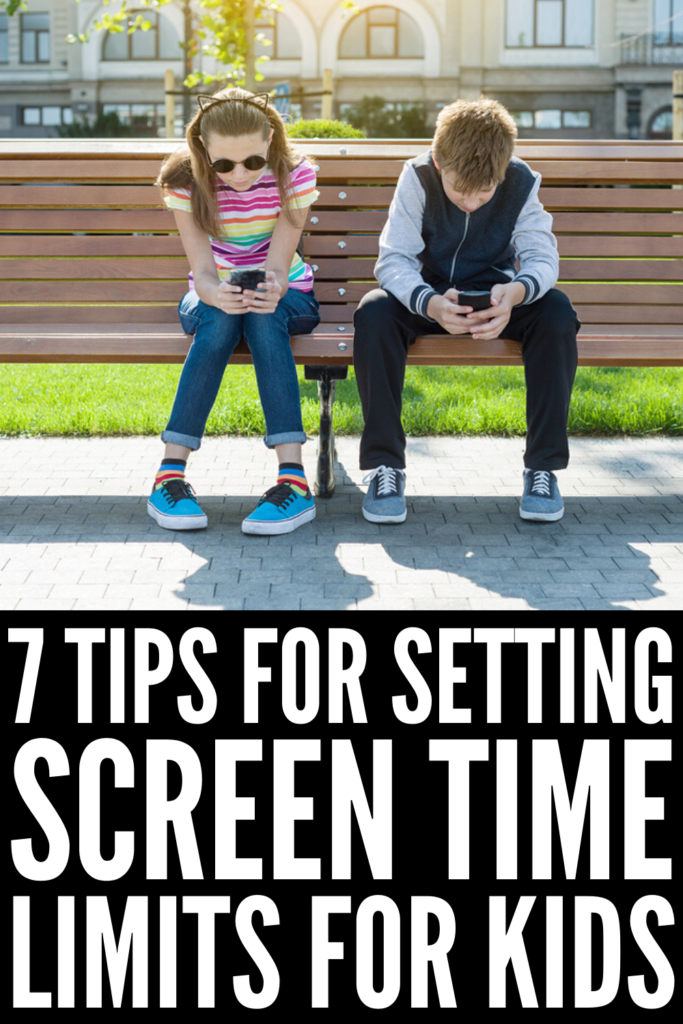 How to Limit Screen Time for Kids | Limiting screen time sounds easy in theory, but it can be much more difficult to implement for parents, especially if you have tweens or teenagers! If you're trying to enforce rules around your child's screen time, and want to know the effects of screen time, how much is too much, along with digital detox tips, we're sharing 7 practical strategies to get your kids to spend less time on their electronic devices. #screentime #kidsandscreens #digitaldetox