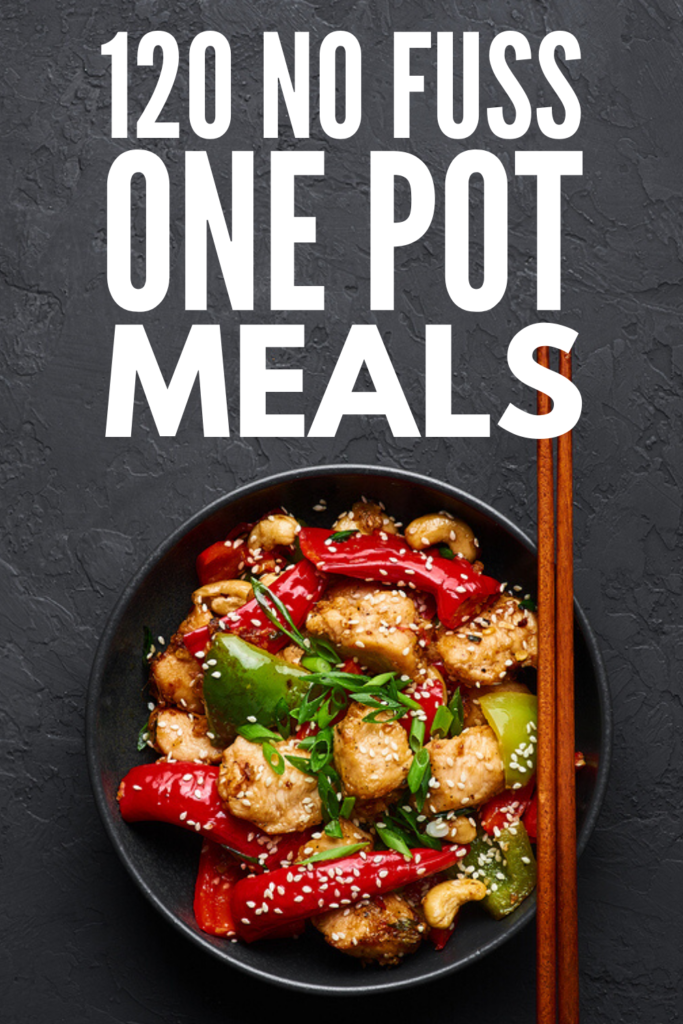 120 Healthy One Pot Meals You'll Love | If you're looking for easy and healthy family-friendly recipes for busy evenings, but hate the idea of cleaning up a huge mess after you've eaten, this collection of one pot recipes is for you! We've included chicken, beef, and pork options for meat lovers, one pot pasta meals, one pot gluten free meals, and one pot vegetarian meals. There's something here for everyone - even for kids! #easydinner #easydinnerrecipes #easyrecipes
