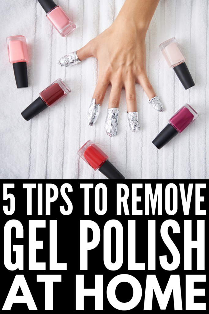 How to Remove Gel Polish at Home | Gel and shellac polish dries fast, doesn't chip, and lasts for 2-3 weeks, but finding the time to go to a salon for a removal can be challenging. If you want to know how to remove gel polish from fingers and from toes on your own, we're sharing our favorite DIY solutions that work! If you want to remove gel polish without acetone, without foil, and via other more natural options, this post is for you! #gelpolish #removegelpolish #gelnails #gelnailremoval