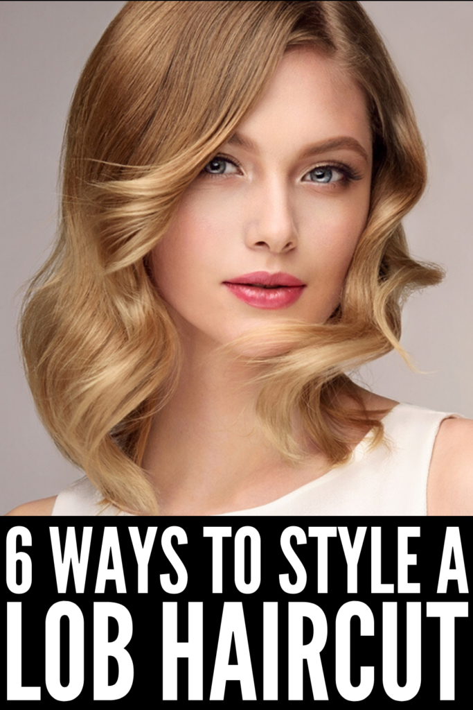 How to Style a Lob: 6 Easy Hairstyles | Sister to the bob hairstyle, there are tons of simple yet chic ways you can style shoulder length hair. Whether you prefer straight hair, messy waves, or lots of volume with layers, these step-by-step tutorials will teach you all the tips and tricks you need to get the look you love. Learn how to get waves with a flat iron, the best half up looks for short hair, how to get beautiful curls with a wand, and more! #lobhairstyle #lobhairstyles #howtostylealob