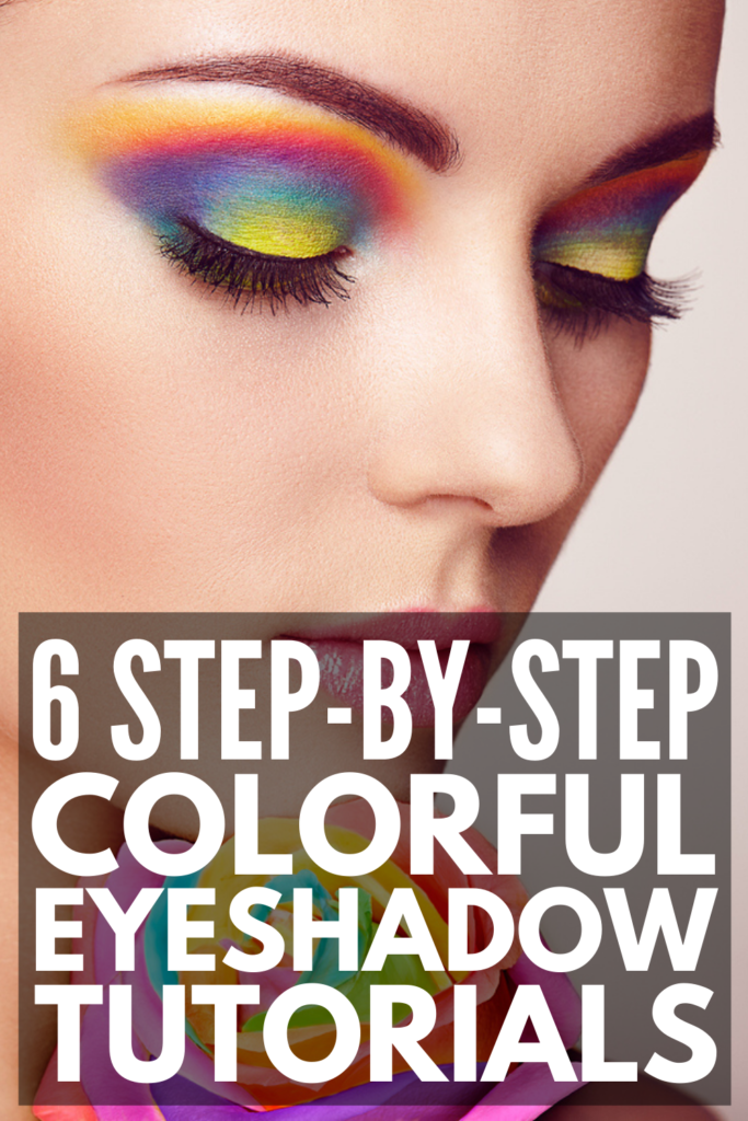 6 Step by Step Colourful Eyeshadow Looks | If you're looking for step-by-step tutorials to teach you how to apply bright eyeshadow, we've got you covered! Perfect for brown eyes, blue eyes, and green eyes, these easy tips and ideas will teach you how to create a subtle daytime pop of color, and how to achieve a bold nighttime look. Grab your Jaclyn Hill Morphe palette and learn the tricks of the trade! #colorfuleyeshadow #brighteyeshadow #howtoapplyeyeshadow
