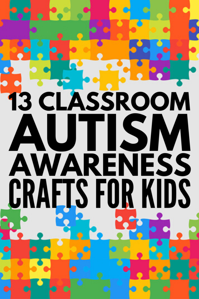 13 Autism Awareness Crafts for Kids | April 2 is World Autism Awareness Day, and if you're looking for crafts, projects, and activities you can use in your classroom to teach your students about autism, this post is a great place to start. From door signs, to puzzle piece crafts and jigsaw jewelry, to art projects that can be used as bulletin boards throughout the month of April, these ideas will inspire you to find unique ways to celebrate neurodiversity and promote inclusion!