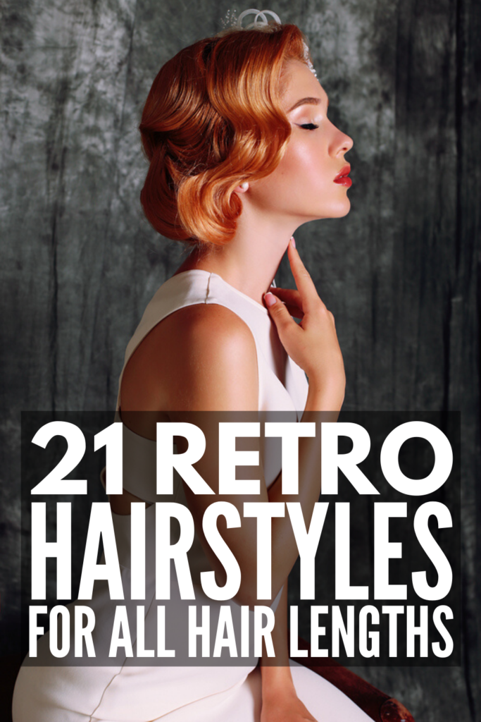 21 Retro Hairstyles for All Hair Lengths | The 60s, 70s, 80s, and even the 90s each had their own iconic hairstyles that are all coming back into style. Whether you need a gorgeous retro glam wave for a wedding, or want to rock vintage-inspired hairstyles on the day to day, we've included options for short, medium, and for long hair. From soft retro waves, to retro pin-up girl hairstyles, to retro Hollywood waves, wear these with a bandana and accessories for extra style!